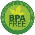 logo showing that this product is BPA free and contains no phthalates